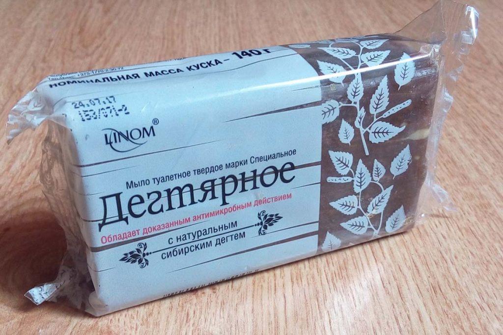 """10 лучших видов дегтярного мыла от вшей и гнид 05 Мыло кусковое """"Linom"""" специальное дегтярное"""