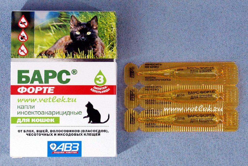 10 лучших средств Барс от блох и клещей, для собак, кошек, щенков, котят капли Форте инсектоакарицидные для кошек