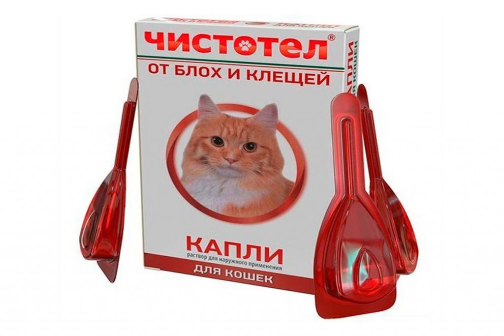 7 лучших капель на холку от клещей для кошек и котят Чистотел