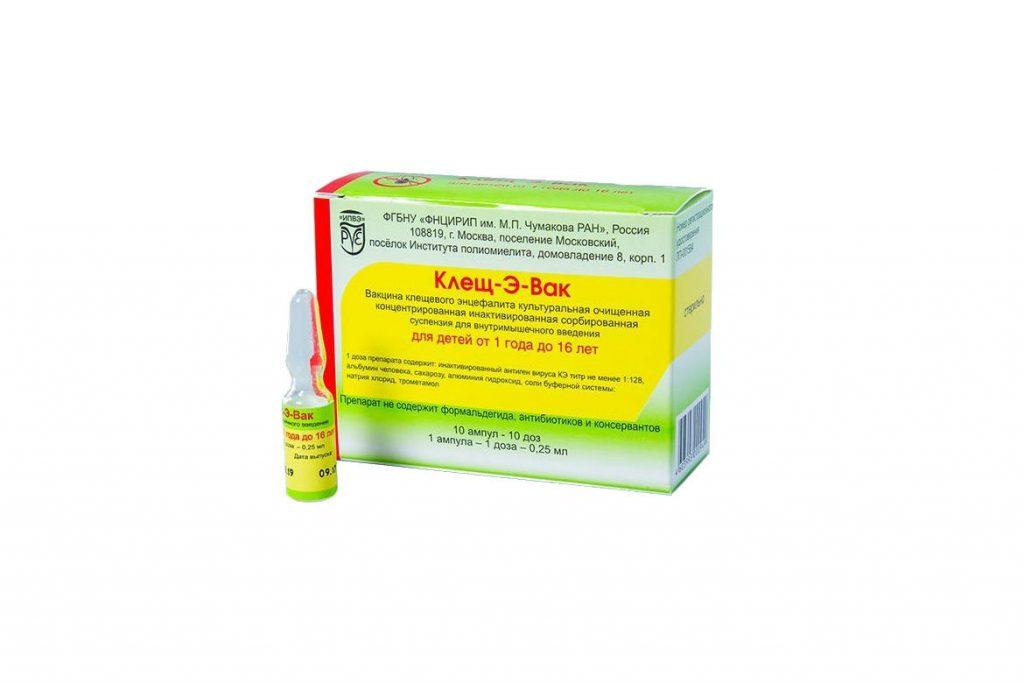 «Клещ-Э-Вак» вакцина от клещевого энцефалита - ампулы 0,25 мл