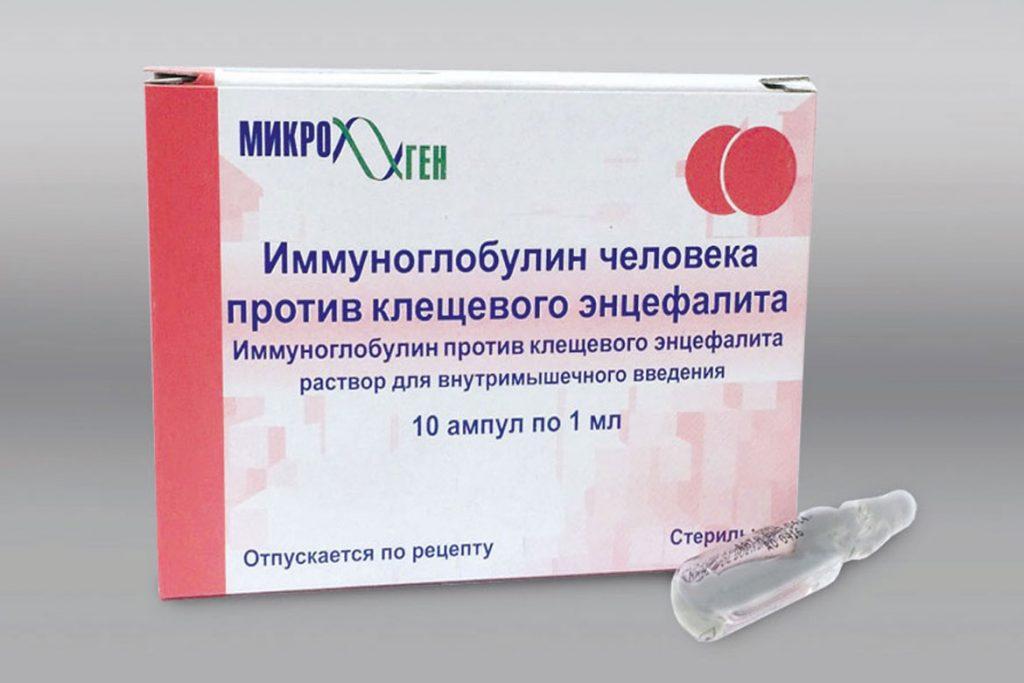 Виды иммуноглобулинов против клещевого энцефалита - препарат