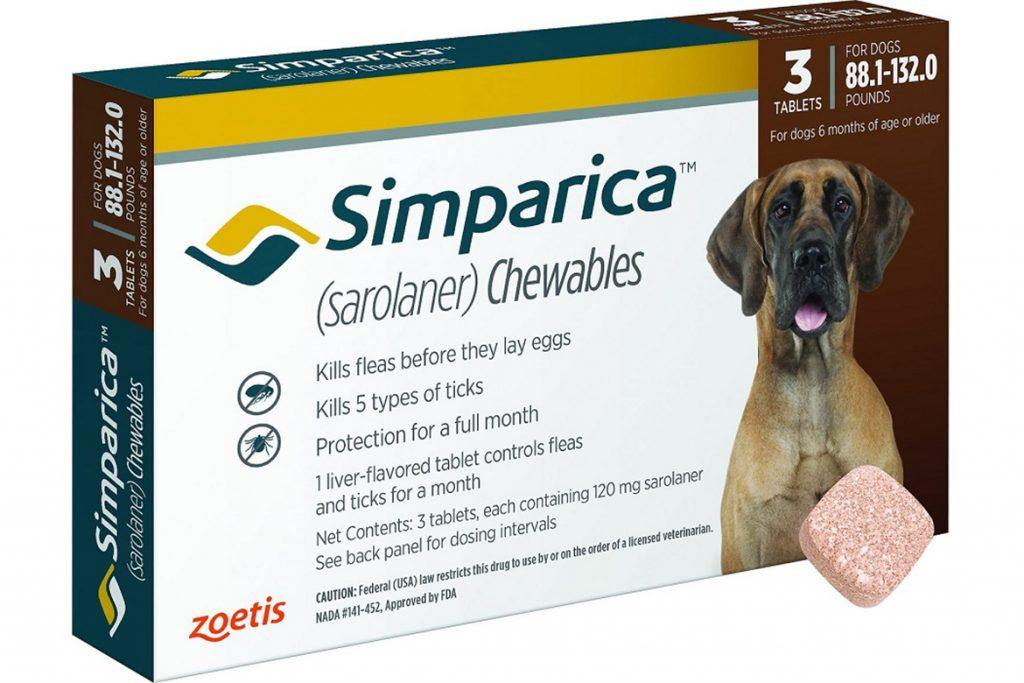 Симпарика (Simparica) для собак и щенков – инструкция по применению жевательных таблеток от блох и клещей внешний вид