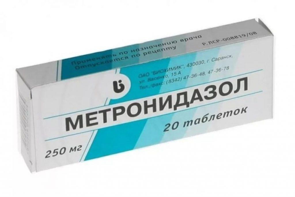 9 лучших средств для лечения демодекоза в домашних условиях, Метронидазол