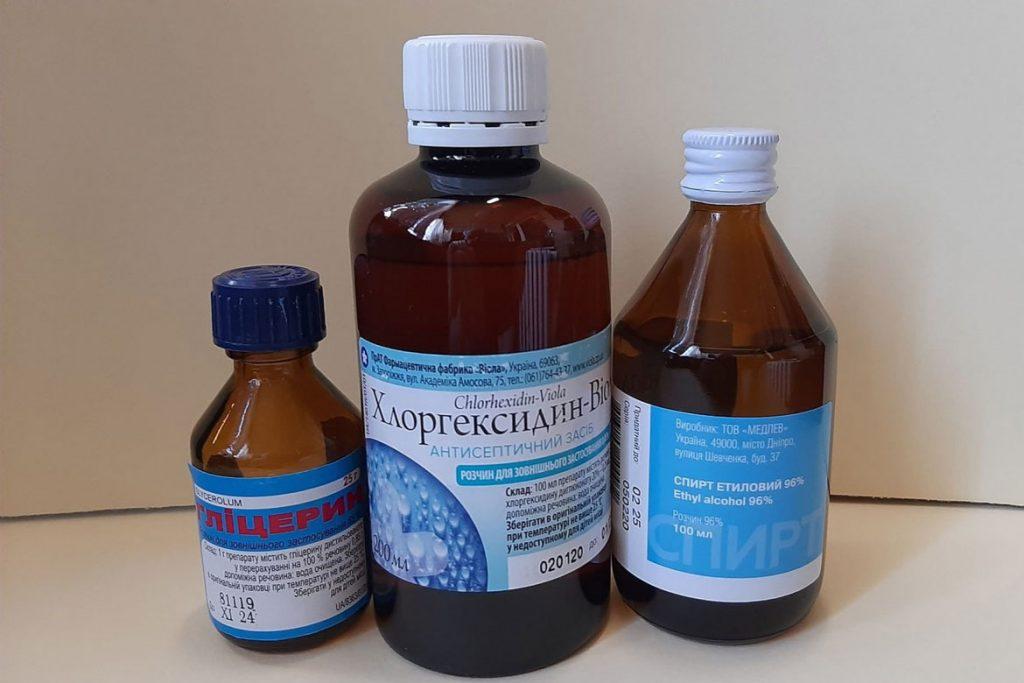 Хлоргексидин и антисептик 911 для кожи - свойства