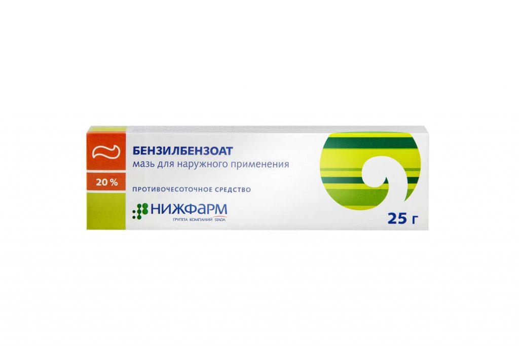 Лобковый педикулез: симптомы и лечение - Бензилбензоат мазь
