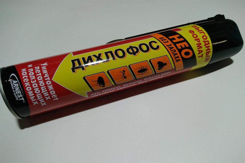 40 способов избавиться от тараканов в квартире и частном доме раз и навсегда, аэрозоль Дихлофос