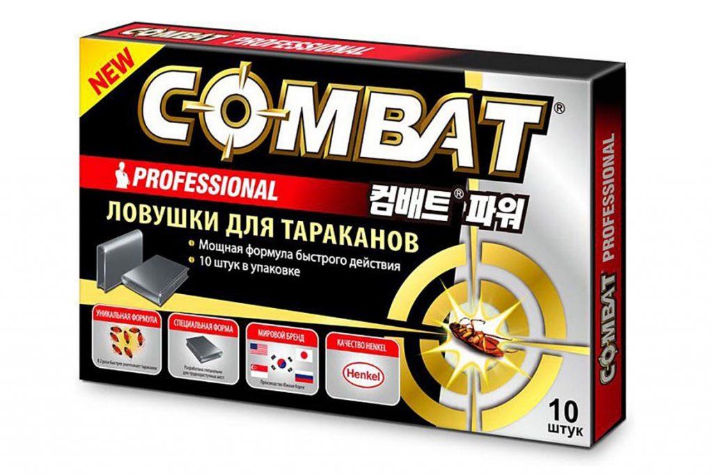3 вида ловушек «Комбат» (Combat) от тараканов обзор популярных средств, отзывы, Professional