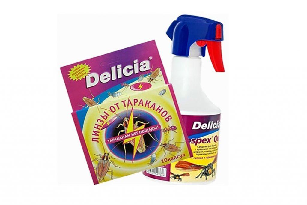 ТОП-5 лучших средств торговой марки Delicia против тараканов линзы, порошок, спрей, аэрозоль, боксы-приманки, отзывы об использовании, ассортимент