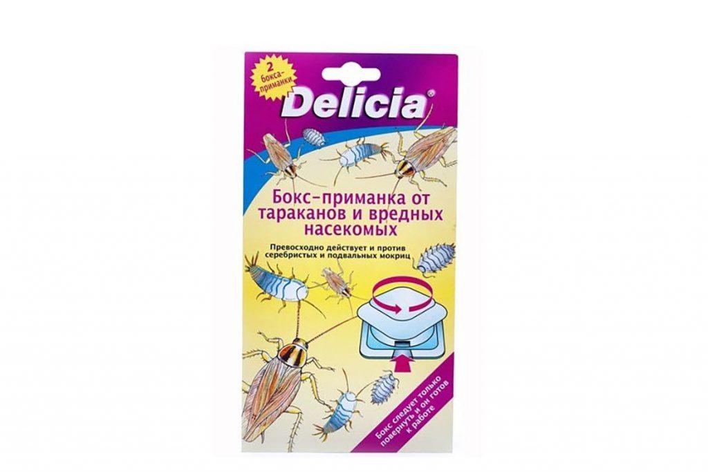 ТОП-5 лучших средств торговой марки Delicia против тараканов линзы, порошок, спрей, аэрозоль, боксы-приманки, отзывы об использовании, ловушки